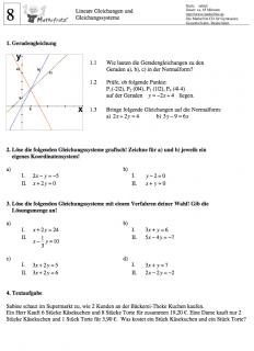 Lineare gleichungssysteme aufgaben mit losungen pdf