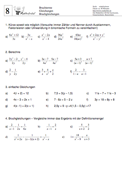 Tolle Mathe Arbeitsblatt Gleichungen Bilder - Mathe Arbeitsblatt ...
