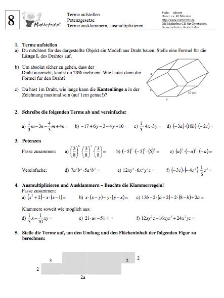 Bruchterme berechnen Aufgaben pdf | Bruchterme Aufgaben