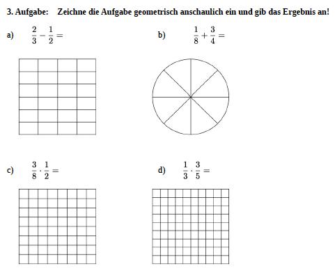 Aufgabenblatt Bruchrechnung Klasse 6 | Bruchrechnen üben mit Mathefritz