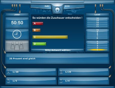 Mathematik Quiz Bruchrechnen, Bruchteile, Prozente online