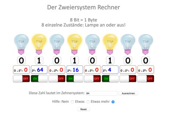 Binärsystem Rechner