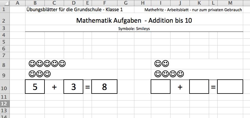 Ausgezeichnet 1Klasse In Mathe Arbeitsblatt Zeitgenössisch ...