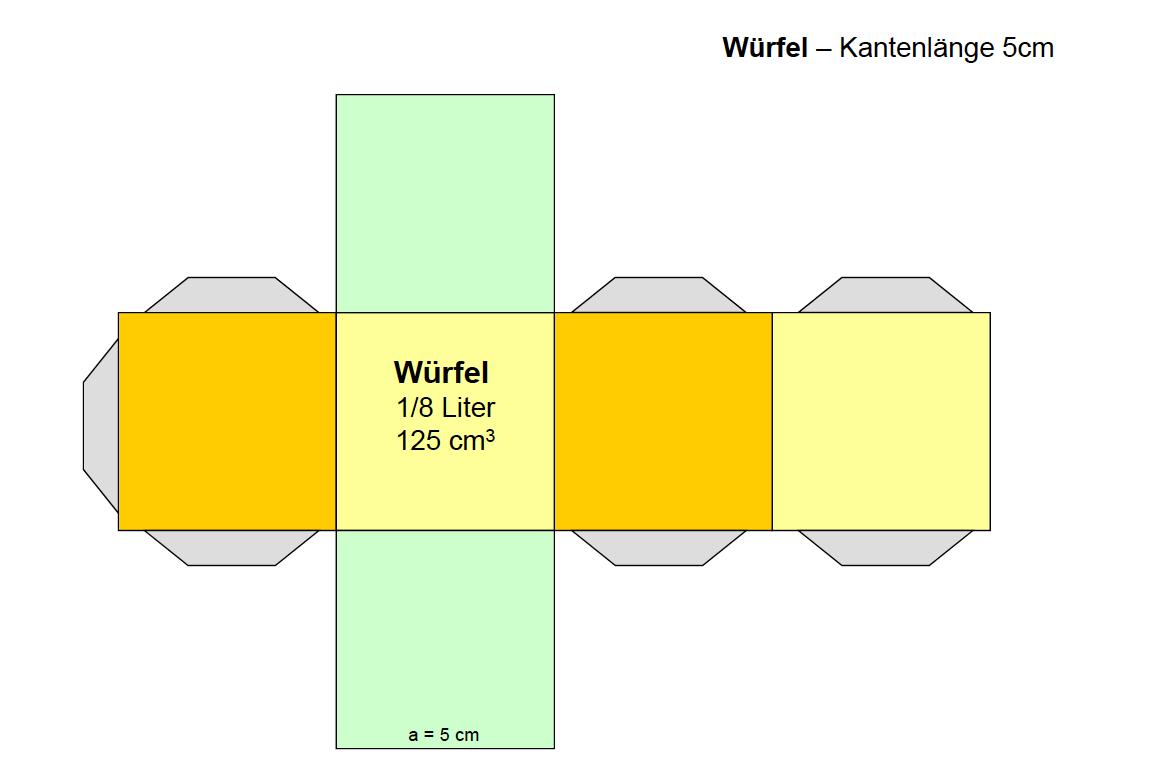 geometrische körper basteln| würfel quader prisma bastelvorlage