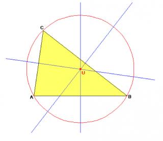 Umkreis eines Dreiecks mit Hilfe der Mittelsenkrechten