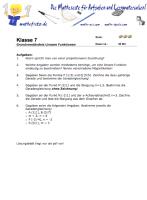 Arbeitsblatt lineare Funktionen