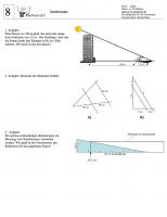 Arbeitsblatt Strahlensatz und Ähnlichkeit von Dreiecken