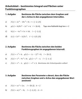 Flächenberechnung zwischen Funktionsgraphen