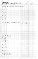 Arbeitsblatt Bruchrechnung in Klasse 5 und 6