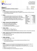 Arbeitsblätter Grundrechenarten