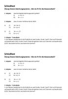 Übungsblatt lineare Gleichungssysteme