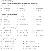 Einfache Terme und Gleichungen in Klasse 5 üben