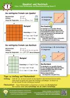 Flächenberechnung Klasse 5 Quadrat und Rechteck