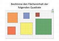 Flächeninhalt vo Quadraten berechnen
