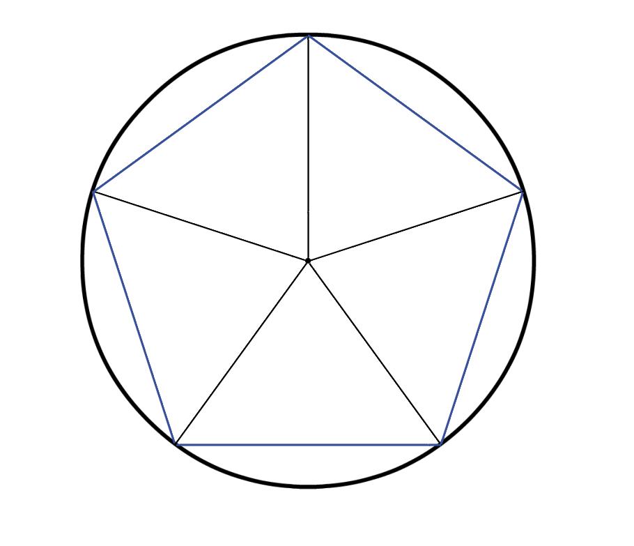 Fünfeck konstruieren | Arbeitsblatt und Lernvideo Fünfeck Mathefritz