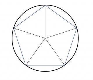 Wir konstruieren ein Fünfeck