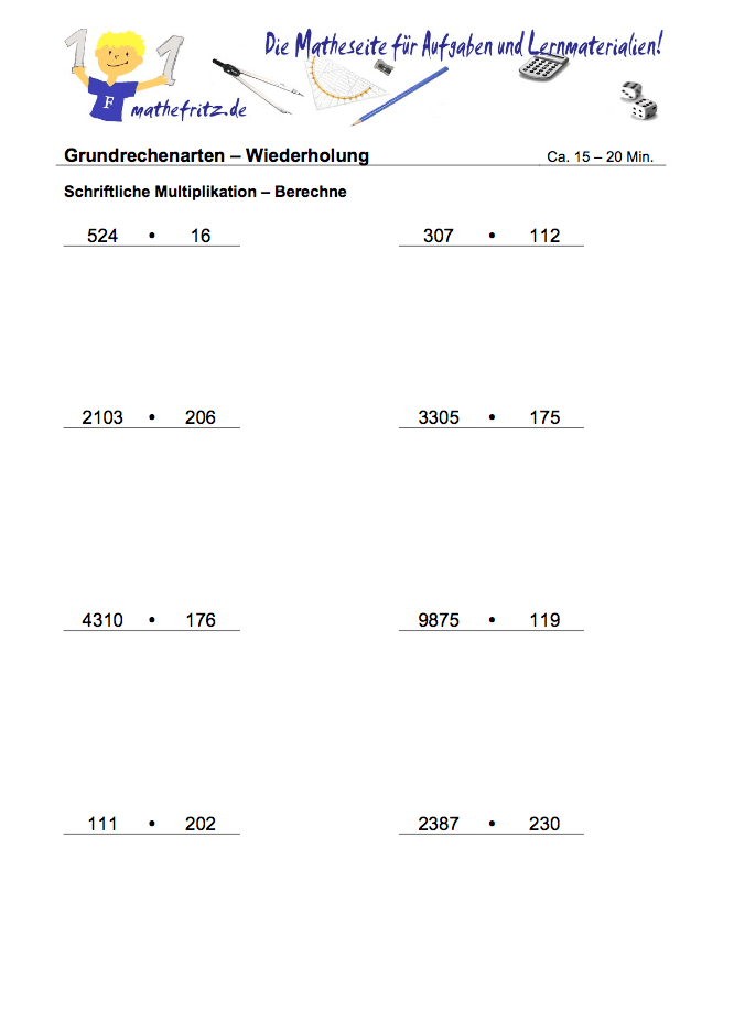 Erfreut Multiplikation Arbeitsblatt Generator Ideen - Arbeitsblätter ...