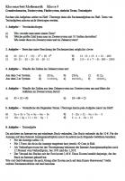 Arbeitsblatt Grundrechenarten Klasse 5