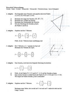 klassenarbeit-vektorrechnung
