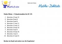 Kopfrechenaufgaben Mathematik Diktat