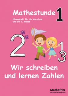 Übungsheft Vorschule Grundschule wir lernen Zahlen schreiben