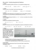 Klassenarbeit Klasse 9 Parabeln