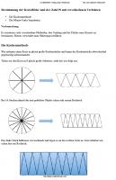 Arbeitsblatt zur Bestimmung der Kreisfläche