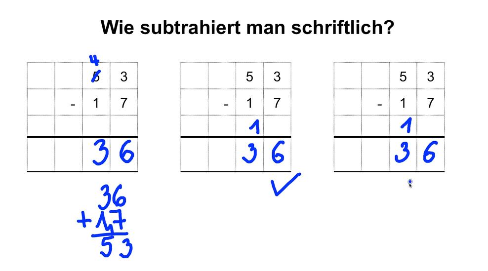 Schriftliche Subtraktion Arbeitsblätter Klasse 3|Mathefritz