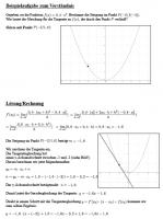 Beispielaufgabe - Aufstellen der Tangentengleichung