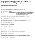 Herleitung der Tangentengleichung