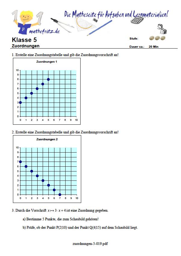 Terme Arbeitsblatt in Klasse 5: Matheaufgaben Klasse 5 Terme