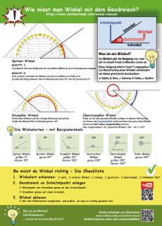 Infoblatt Winkel messen