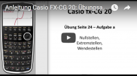 Casio FX-CG 20 Beispielaufgabe Kurvendiskussion
