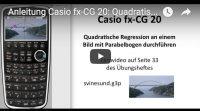 Casio fx-CG 20 Quadratische Regression