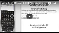 Casio FX-CG 20: Binomialverteilung