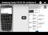 Casio FX-CG 20: Rechenaufgaben lösen