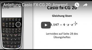 Casio FX-CG 20: Exponentialgleichungen lösen