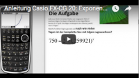 Casio FX-CG 20: exponentielle Regression