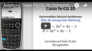 Casio FX-CG 20 Extremstellen bestimmen