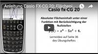 Casio FX-CG 20: Flächeninhalt absolut bestimmen