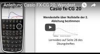 Casio FX-CG 20 Funktionenschar Wendestelle