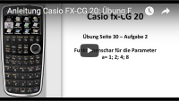 Casio FX-CG 20: Funktionenschar anlegen