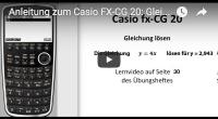 Casio FX-CG 20 Gleichung lösen