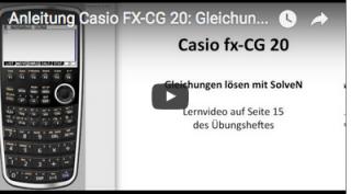 Casio FX-CG 20 Gleichungen lösen