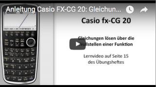 Casio FX-CG 20: Gleichungen lösen