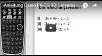 Casio FX-CG 20 Gleichungssystem mit unendlich vielen Lösungen