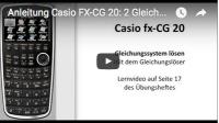 Casio FX-CG 20 Gleichungssysteme lösen