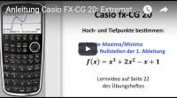 Casio FX-CG 20 Hochpunkte Tiefpunkte einer Funktion