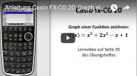 Casio FX-CG 20 Kurvendiskussion ganzrationale Funktion