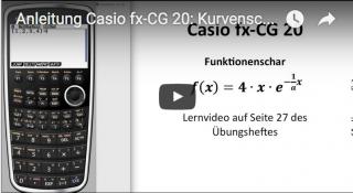 Casio FX-CG 20: Kurvenscharen mit Wertetabelle